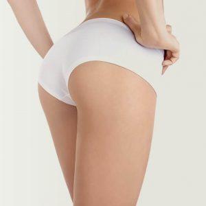 depilación femenina glúteos