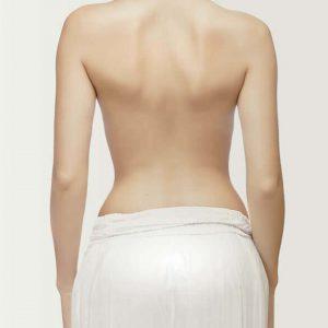 depilación femenina espalda
